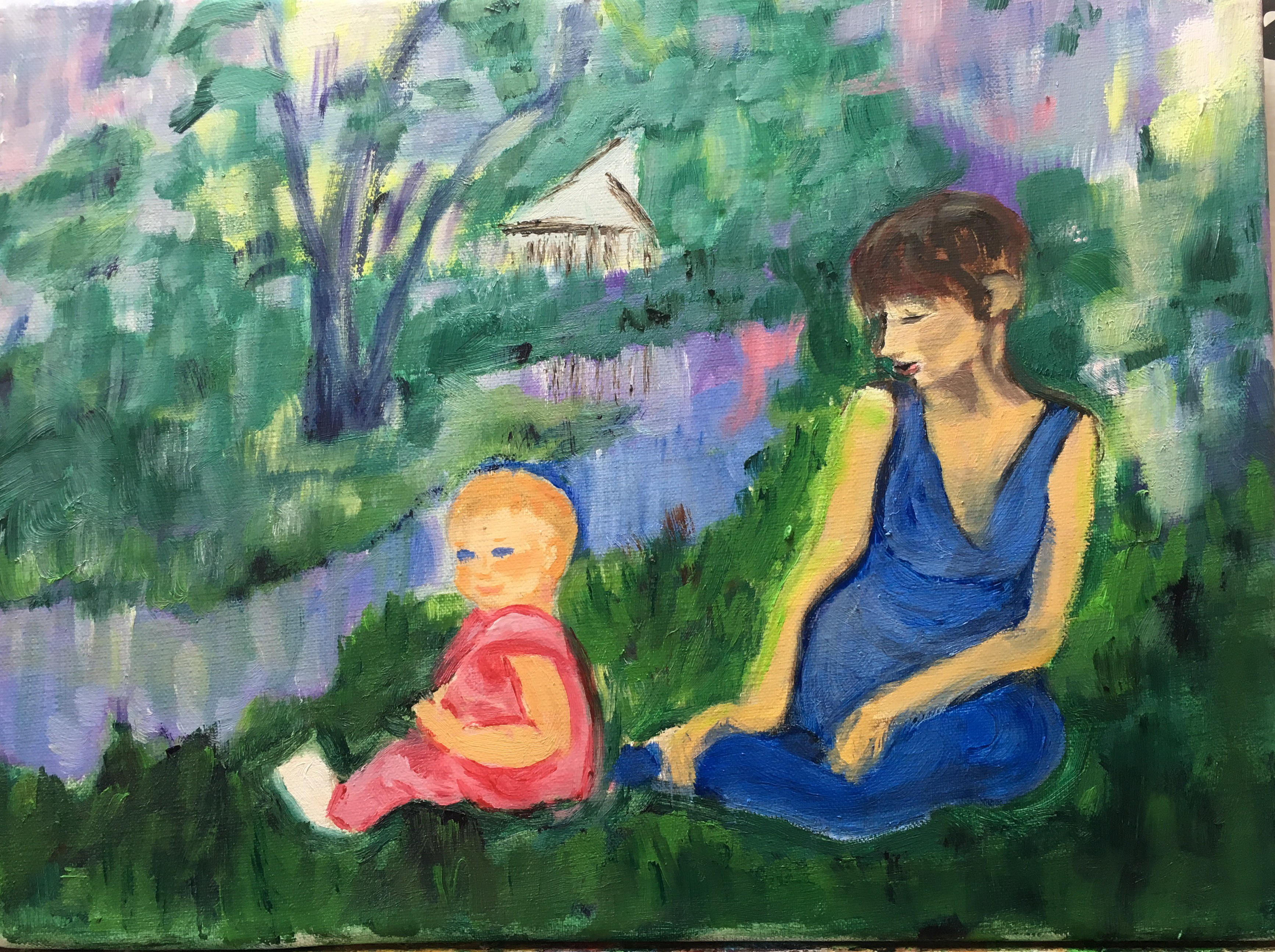 Riverside, Mother and Child